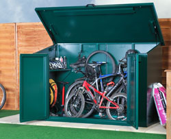 Asgard Access metal bike shed 7x4 from Gardien | garden security