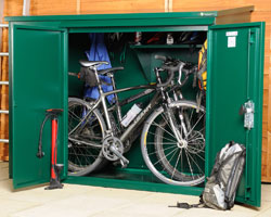 Asgard Addition metal bike shed 6x3 from Gardien | garden security