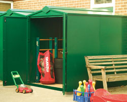 Asgard Centurion metal garden shed 5x7 from Gardien | garden security
