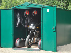 Metal Motorbike Shed from Gardien | garden security