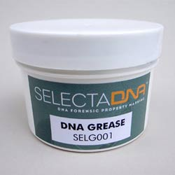 a pot of SELECTADNA grease for property marking